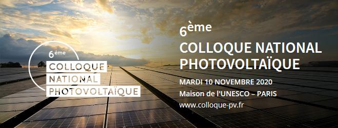 Colloque national photovoltaïque