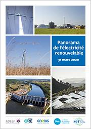 Panorama de l'électricité renouvelable au 31 mars 2020
