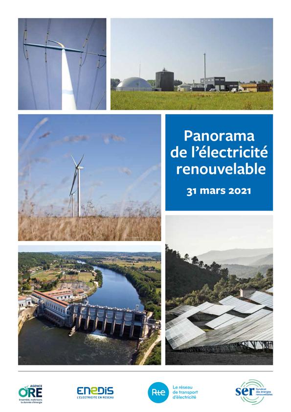 Panorama de l'électricité renouvelable au 31 mars 2021